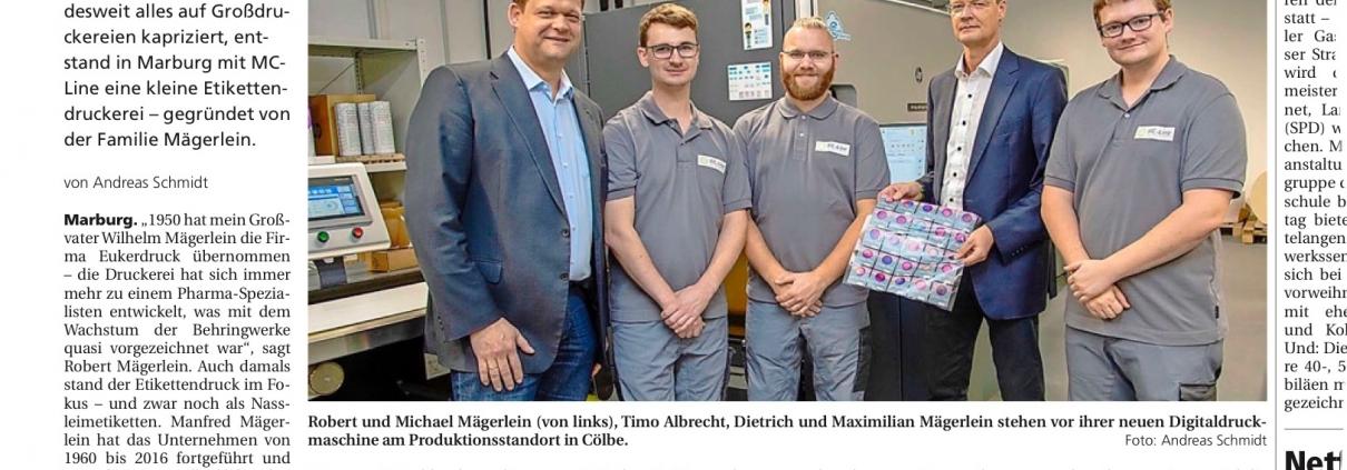 Artikel MC-Line in Oberhessischer Presse