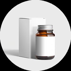 pharmaetikett-flasche